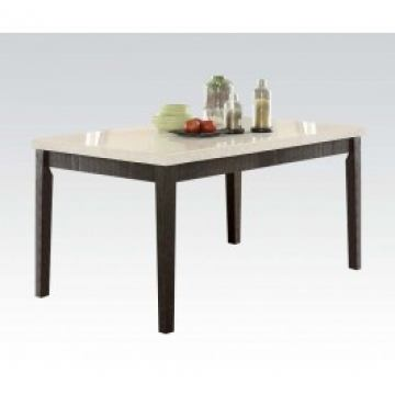 Acme Nolan Rectangular Dining Table In White MarbleWeathered Black - White marble rectangular dining table