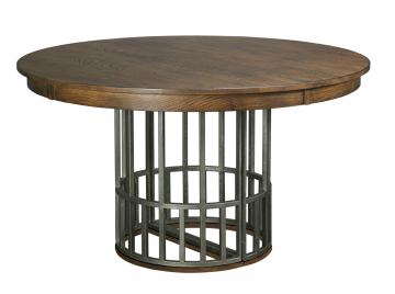 Kincaid Bedford Park Elements Round Dining Table in Hazelnut