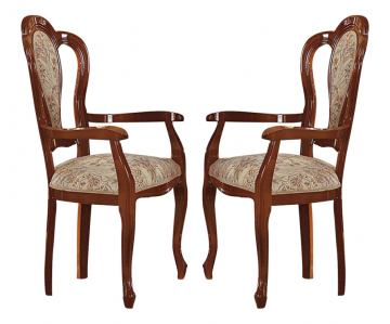 ESF Furniture Milady Arm Chair in Walnut (Set of 2)
