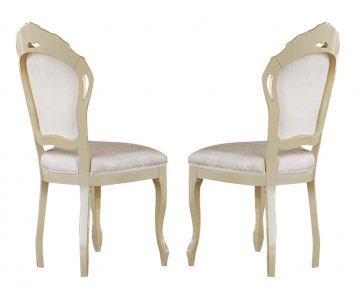 ESF Furniture Rosella Side Chair in Ivory (Set of 2)
