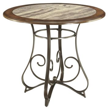 Hopstand Round Dining Room Table in Brown