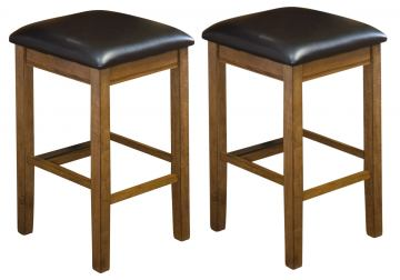 "Intercon Furniture Siena 24"" Backless Barstool (Set of 2) in Black and Cider SN-BS-35L-BCR-K24"