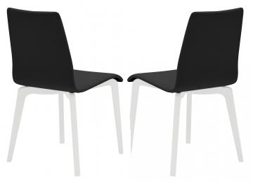 Domitalia Jude-L Chair in Black and White JUDE.S.LSF.LBOS.7JR (Set of 2)