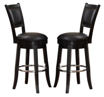 ECI Furniture Godard Bar Stool, Passed Out Olive Logo in Black 4800-00-BS1