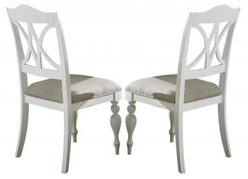 Liberty Furniture Summer House Slatback Side Chair in Oyster White (Set of 2) 607-C9001S