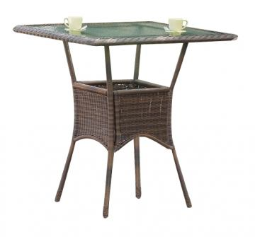 South Sea Rattan Key West Outdoor High Dining Table in Chocolate 75410-CHO