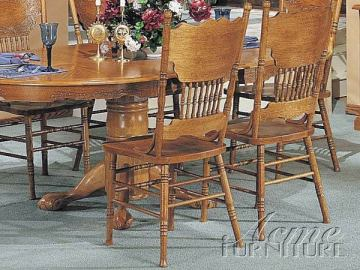 Acme Nostalgia Side Chair in Oak Finish (Set of 2) 02185A