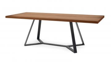 Domitalia Archie Rectangular Table in Anthracite and Walnut ARCHI.T.20L3.AN.2414.NCA