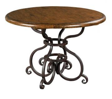 "Kincaid Artisan's Shoppe Solid Wood 44"" Round Dining Table in Tobacco 90-2155P"
