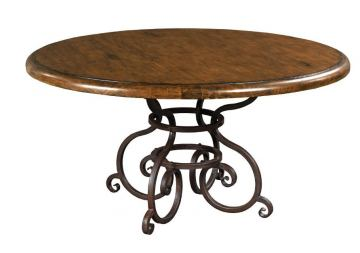 "Kincaid Artisan's Shoppe Solid Wood 60"" Round Dining Table in Tobacco 90-2175P"