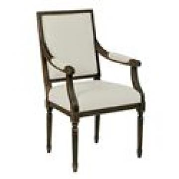 Kincaid Artisan's Shoppe Solid Wood Upholstered French Arm Chair in Black Forest (Set of 2) 90-2409R