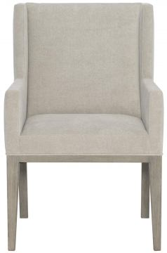 Bernhardt Linea Upholstered Arm Chair in Cerused Greige (Set of 2)