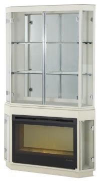 Aico Beverly Boulevard Fireplace with Curio Top & Electric Insert 06220FPL3-11