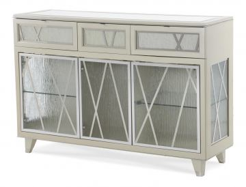 Aico Beverly Boulevard Sideboard in Pearl Caviar 06007-11