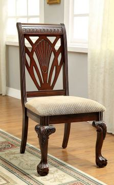 Furniture of America Petersburg I Side Chair in Cherry (Set of 2) CM3185SC-2PK
