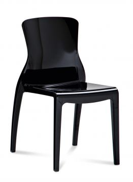 Domitalia Crystal Opaque Chair in Black (Set of 4)