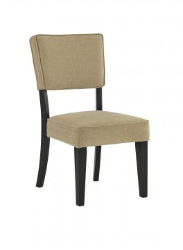 Gavelston Beige Upholstered Dining Side Chair in Espresso Finish  (Set of 2) D532-01