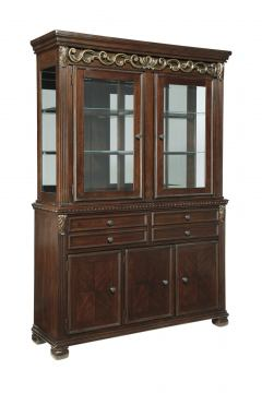 Leahlyn Dining Buffet with Hutch in Reddish Brown
