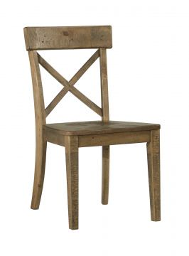 Trishley Dining Side Chair in Light Brown (Set of 2)