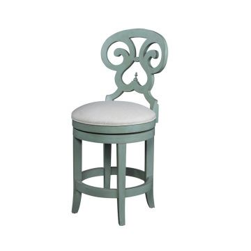 Fine Furniture Summer Home Swivel Counter Stool in Sky 1053-927-S