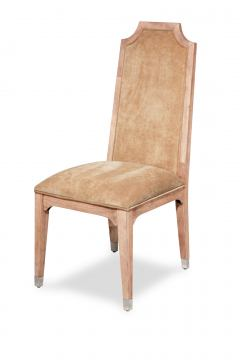 AICO Biscayne West Upholstered Side Chair in Sand (Set of 2)