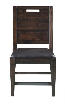 Magnussen Pine Hill Wood Upholstered Dining Side Chair in Rustic Pine (Set of 2) D3561-62