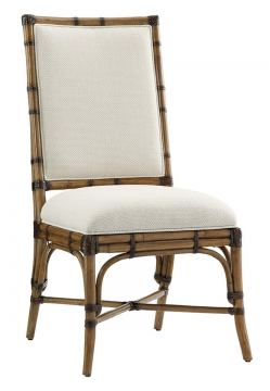 Tommy Bahama Home Twin Palms Summer Isle Upholstered Side Chair in Medium Umber (Set of 2) 01-0558-882-01