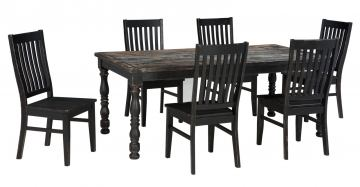 Clayco Bay 7pc Rectangular Dining Set in Black
