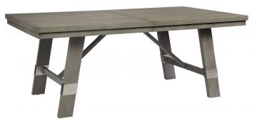 Palliser Furniture Venice Rectangular Extension Dining Table in Grey 120-150