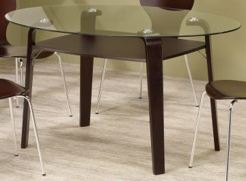 Coaster Orval Glass-Top Dining Table 120791