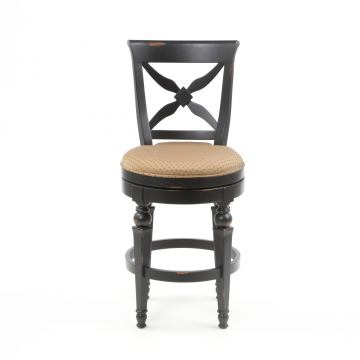 Hillsdale Northern Heights Swivel Counter Stool In Black/ Honey (Set Of 2)  4439