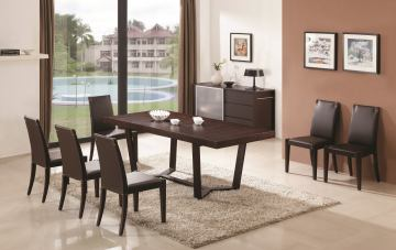 J&M Class/Colibri Modern Dining Set in Dark Oak
