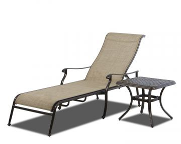 Klaussner Outdoor Cayside Sling Chaise (Set of2) W6001 CHASE CLOSEOUT
