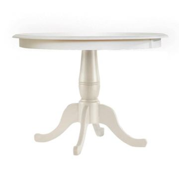 "John Thomas Furniture Simply Linen 36"" Round Dining Table in Linen T31-36RTP"