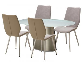 AICO Trance Halsted 5pc Oval Dining Set