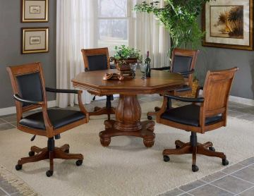 Hillsdale Kingston 5pc Game Table Set in Medium Cherry
