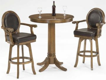 Hillsdale Warrington Bar Height Dining Set in Rich Cherry