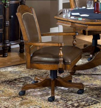 Hillsdale Nassau Game Chair in Brown (Set of 2) 6060-801