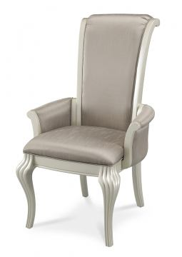 AICO Hollywood Swank Arm Chair in Pearl NU03004R-08 (Set of 2)