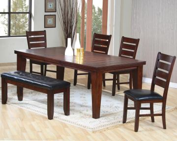 Coaster Imperial 6pc Dining Set in Dark Brown 101881S