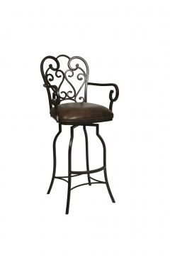 Pastel Furniture Magnolia Swivel Barstool with Arms in Autumn Rust (Set of 2) MA-217-30-AR-649