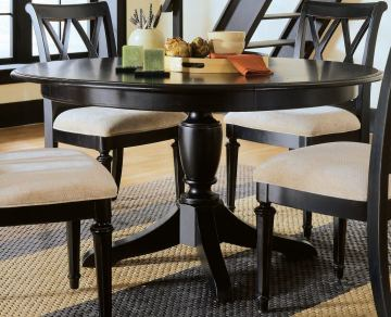American Drew Camden Round Dining Table in Black