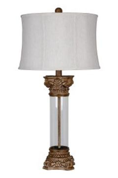 Jaylen Glass Table Lamp in Clear/Brown L430404