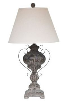 Jaleh Poly Table Lamp in Antique Black L511984