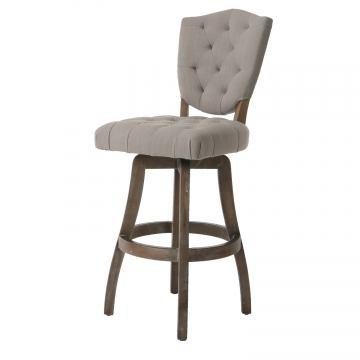 Pastel Furniture Philadelphia Swivel Barstool in Natural Distressed PP-219-30-ND-091 (Set Of 2)