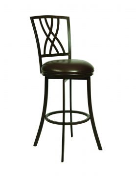 Pastel Furniture Quintet Swivel Barstool in Dark Mocha (Set of 2) QN-222-26-DM-285