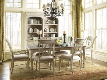 Kincaid Weatherford Canterbury Rectangular Dining Table Set in Cornsilk Finish