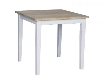 "John Thomas Furniture Dining Essentials 30"" Square Table in White/Natural T02-3030"