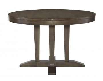 "John Thomas Luxe 48"" Round Pedestal Table in Pewter T13-248"