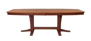 John Thomas Furniture Cosmopolitan Milano Double Butterfly Extension Table in Aged Cherry/ Espresso T50-4096XXTB